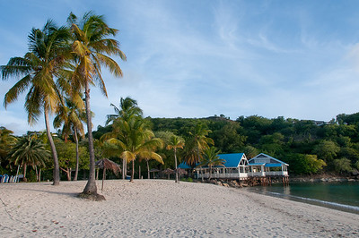 View of the beach in Antigua and Barbuda