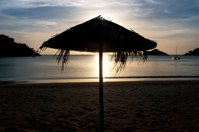 Sunrise at the beach in Antigua and Barbuda