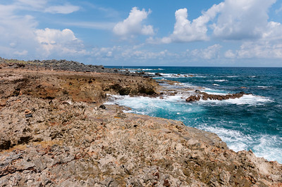 Rocky coastline on the island of Aruba