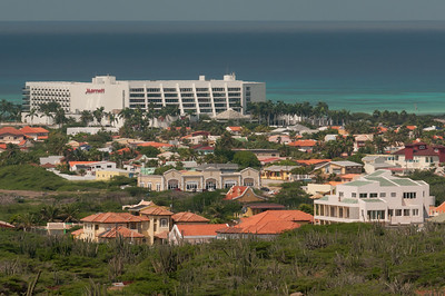 Skyline on the island of Aruba