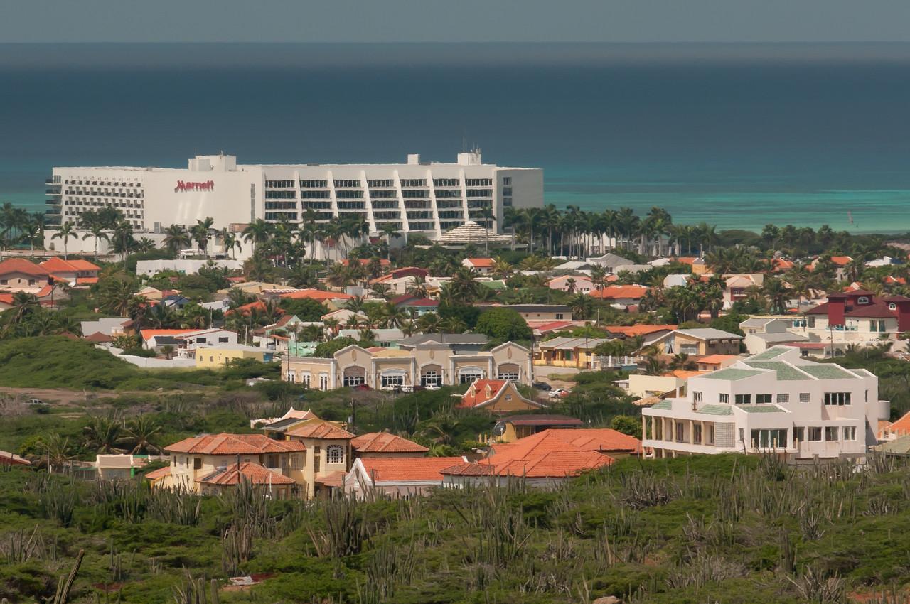 Skyline on the island of Aruba