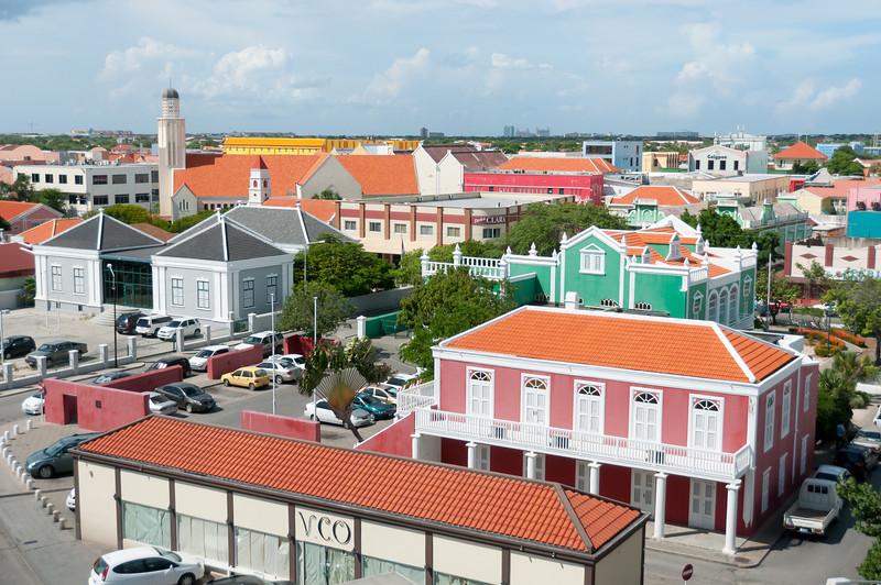 Overlooking the skyline in Aruba