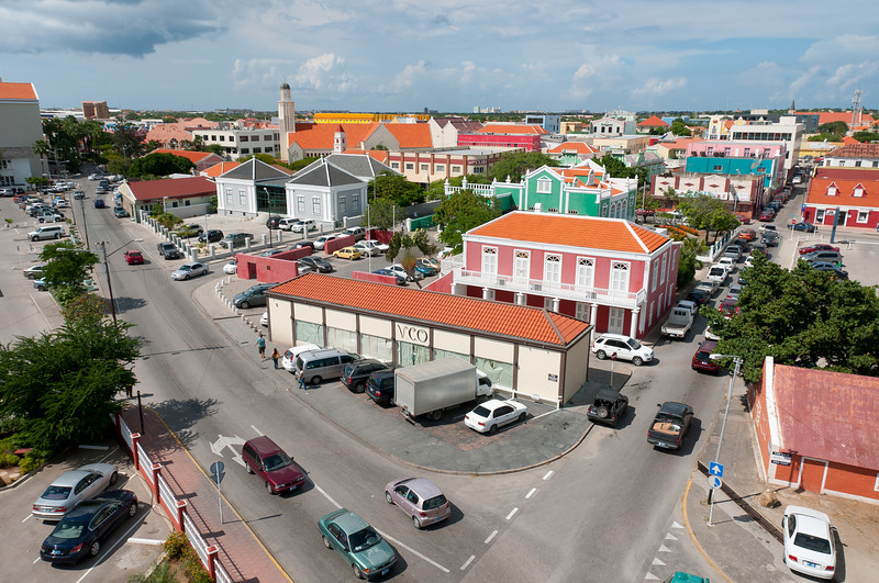 Overlooking a road intersection in Aruba