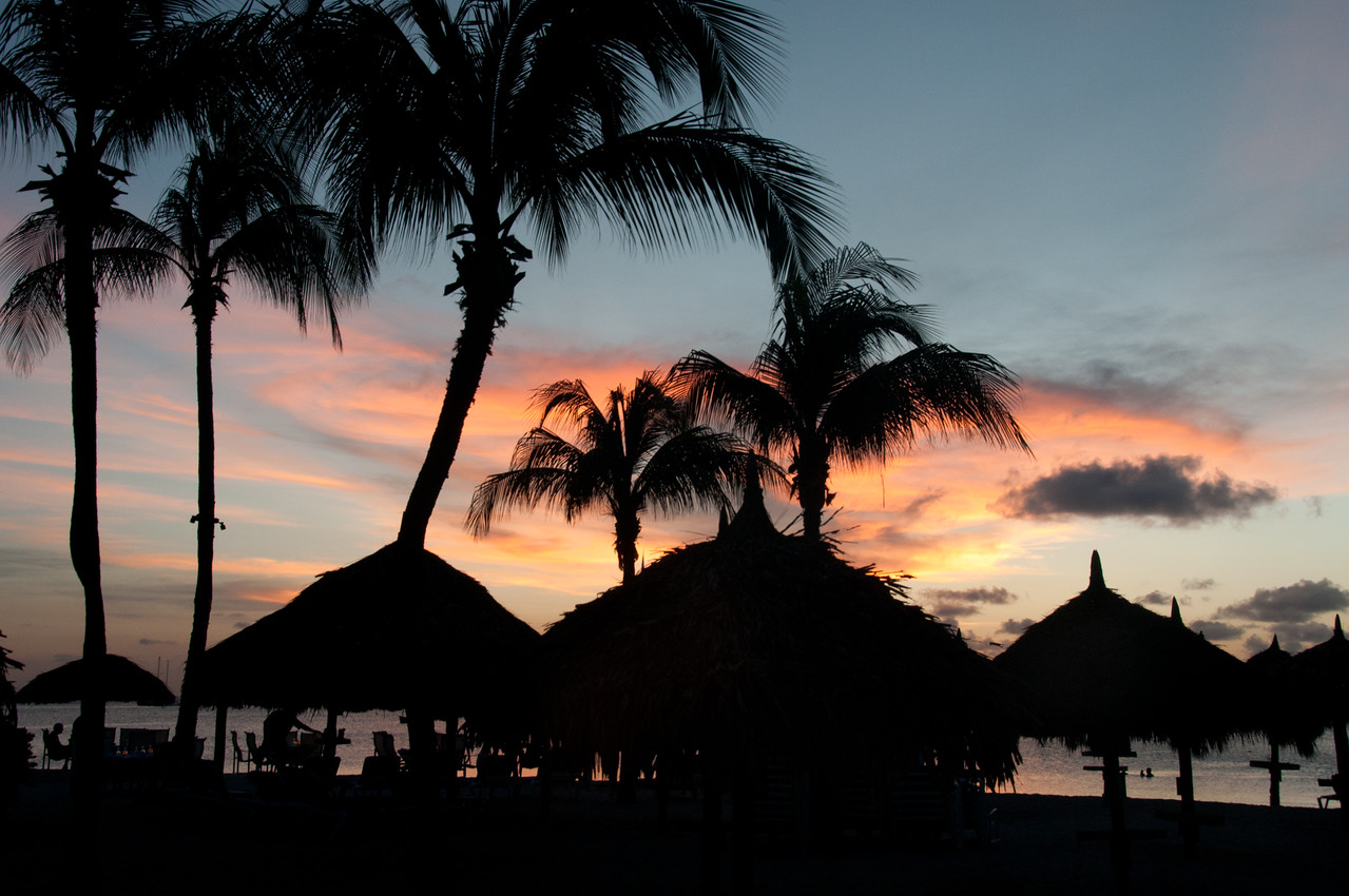 Sunset in the island of Aruba