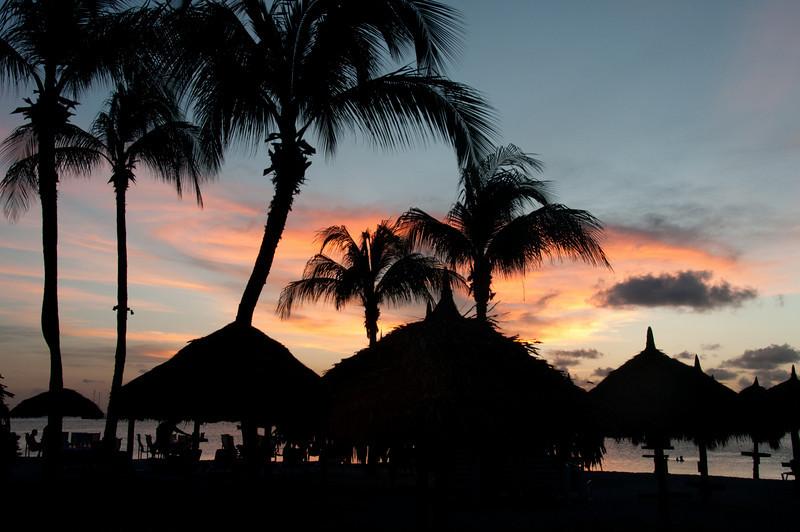 Sunset in the island of Aruba