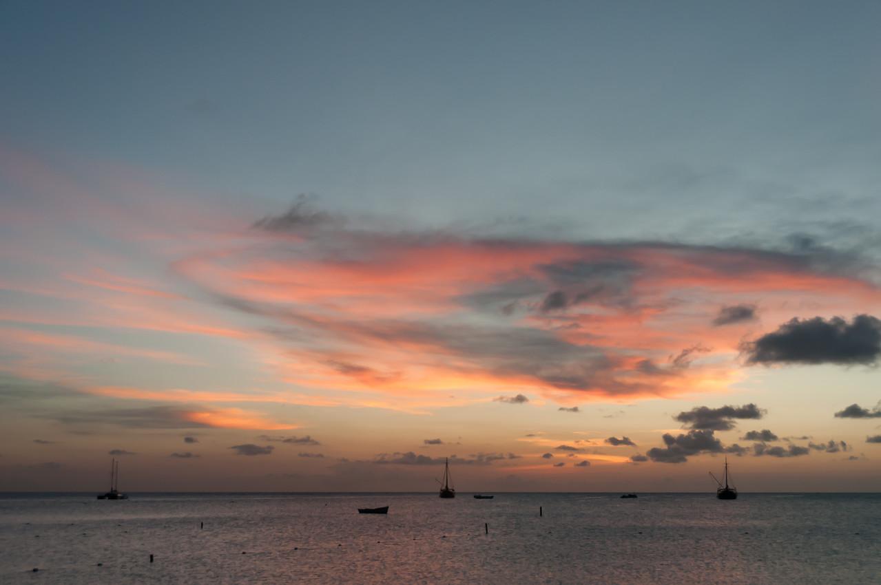 Sunset on a beach - Aruba