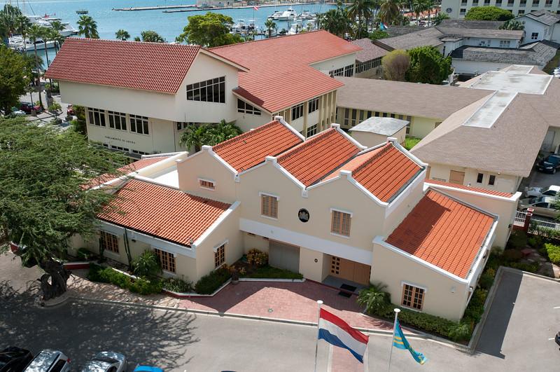 Overlooking view of buildings in Aruba