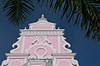 Colonial Dutch architecture in the buildings of Oranjestad, Aruba, Caribbean.