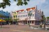 Ornate architecture in Oranjestad Square, Aruba, Caribbean.