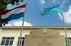 The Parliament Building in Oranjestad, Aruba.