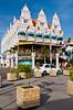 Royal Plaza on main street in Oranjestad, Aruba, Netherlands Antilles, Caribbean.