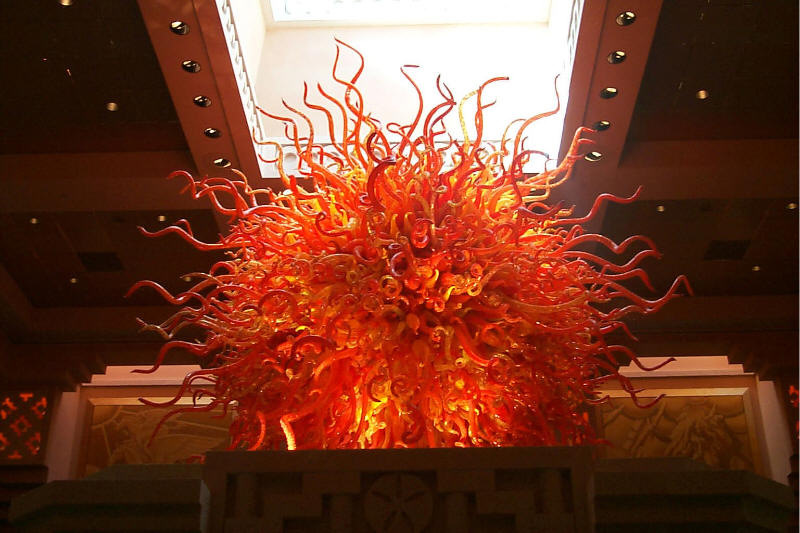 A Dale Chihuly sculpture in the Atlantis Resort, Nassau, Bahamas. From my 1999 Trip there.