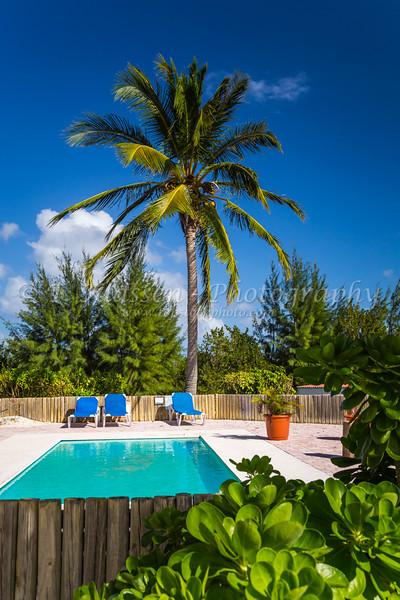 A small swimming pool on Princess Cays, Bahamas.