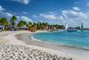 A sand beach on Princess Cays, Bahamas.