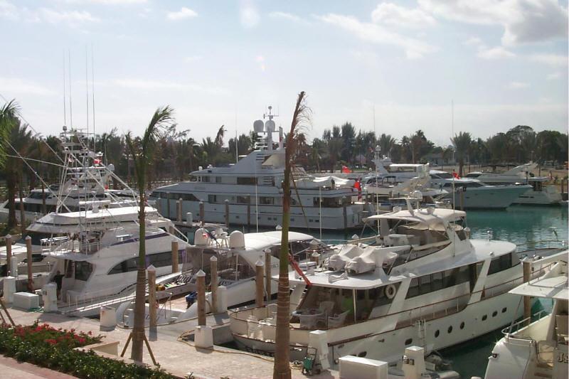 Yachts in the Bahamas