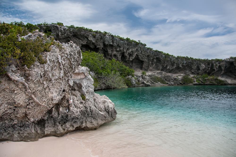 Dean's Blue Hole on Long Island, Bahamas