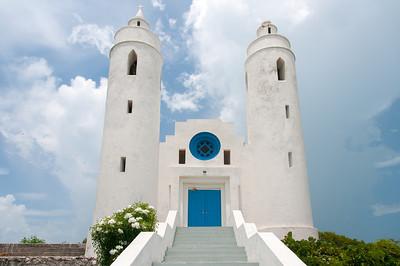 White church in Long Island, Bahamas