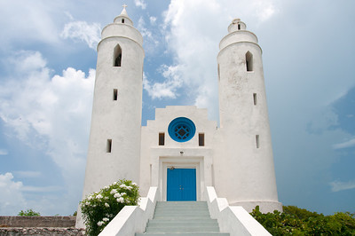 White church in Long Island, Bahamas