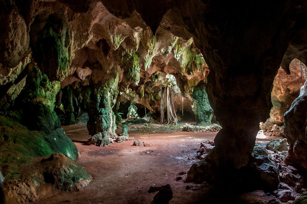 Hamilton's Cave in Long Island, Bahamas