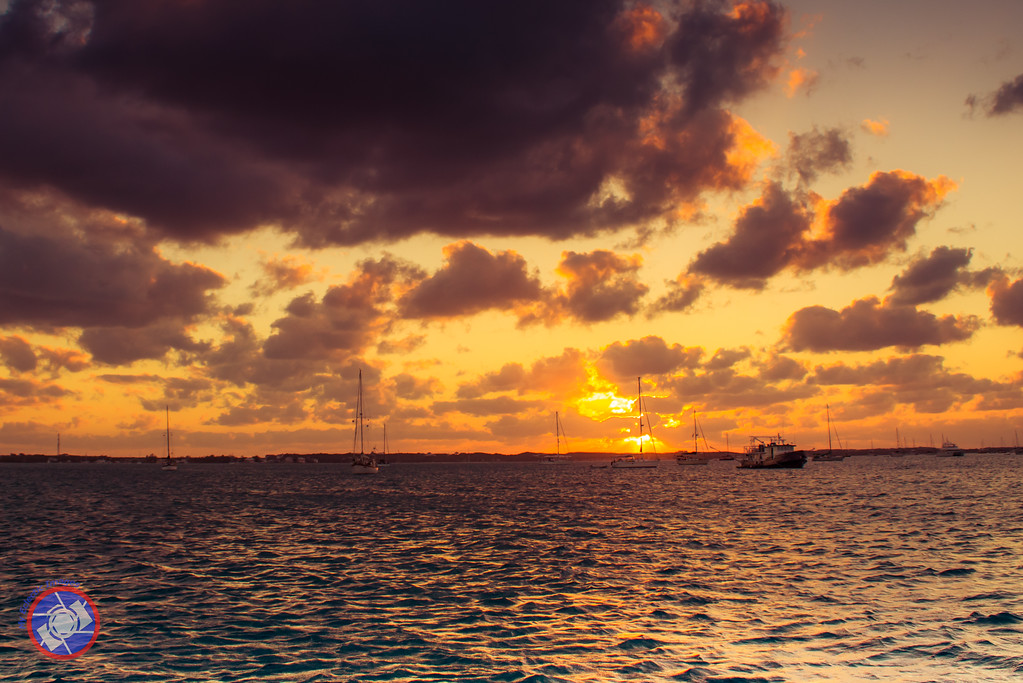 Sunset at Highborne Cay in the Bahamas (©simon@myeclecticimages.com)