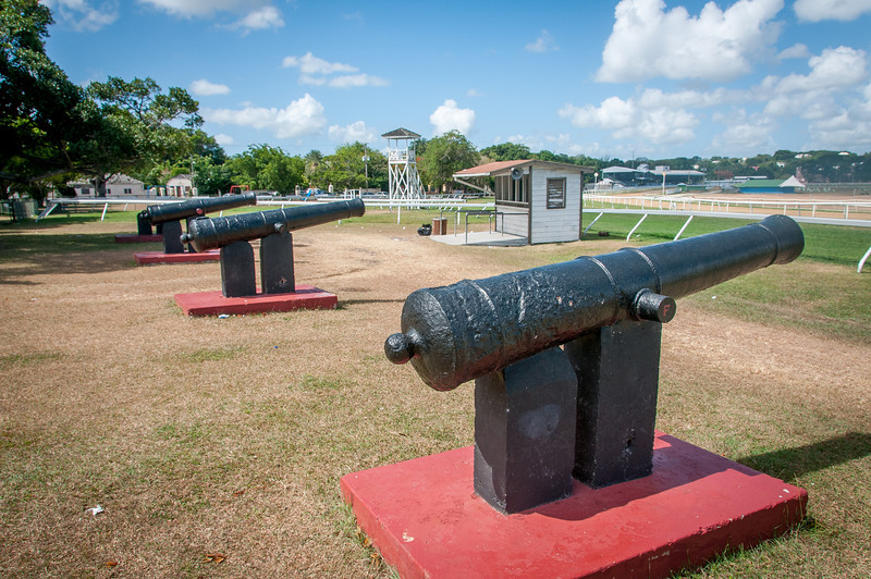 Canons at the Garrison, Bridgetown, Barbados