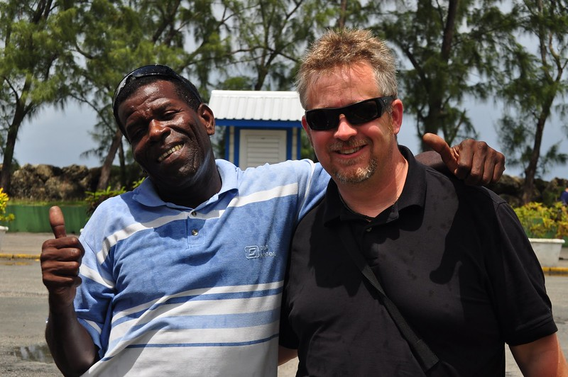Michael and Mr. Wayne (our driver for the day)