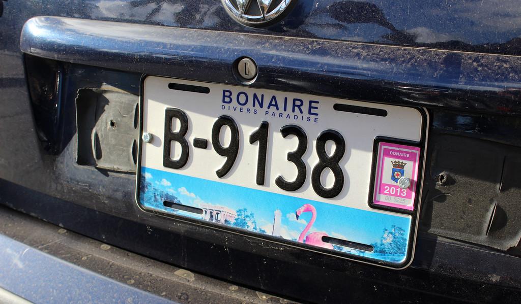 Bonaire licence plate