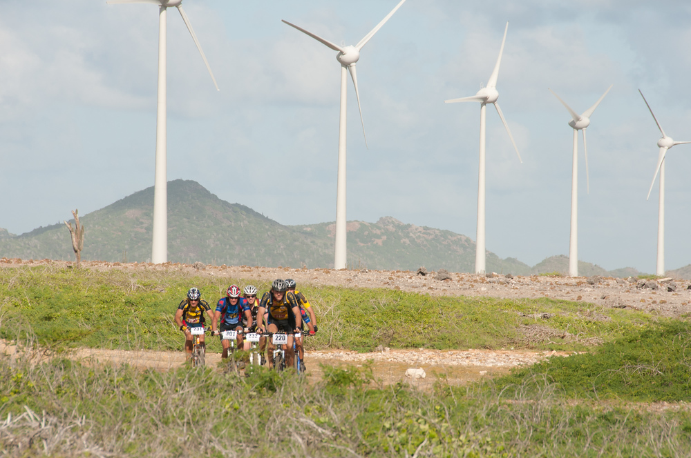 Bikers and windmills on Bonaire