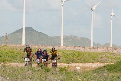 Windmills and bikers in Bonaire
