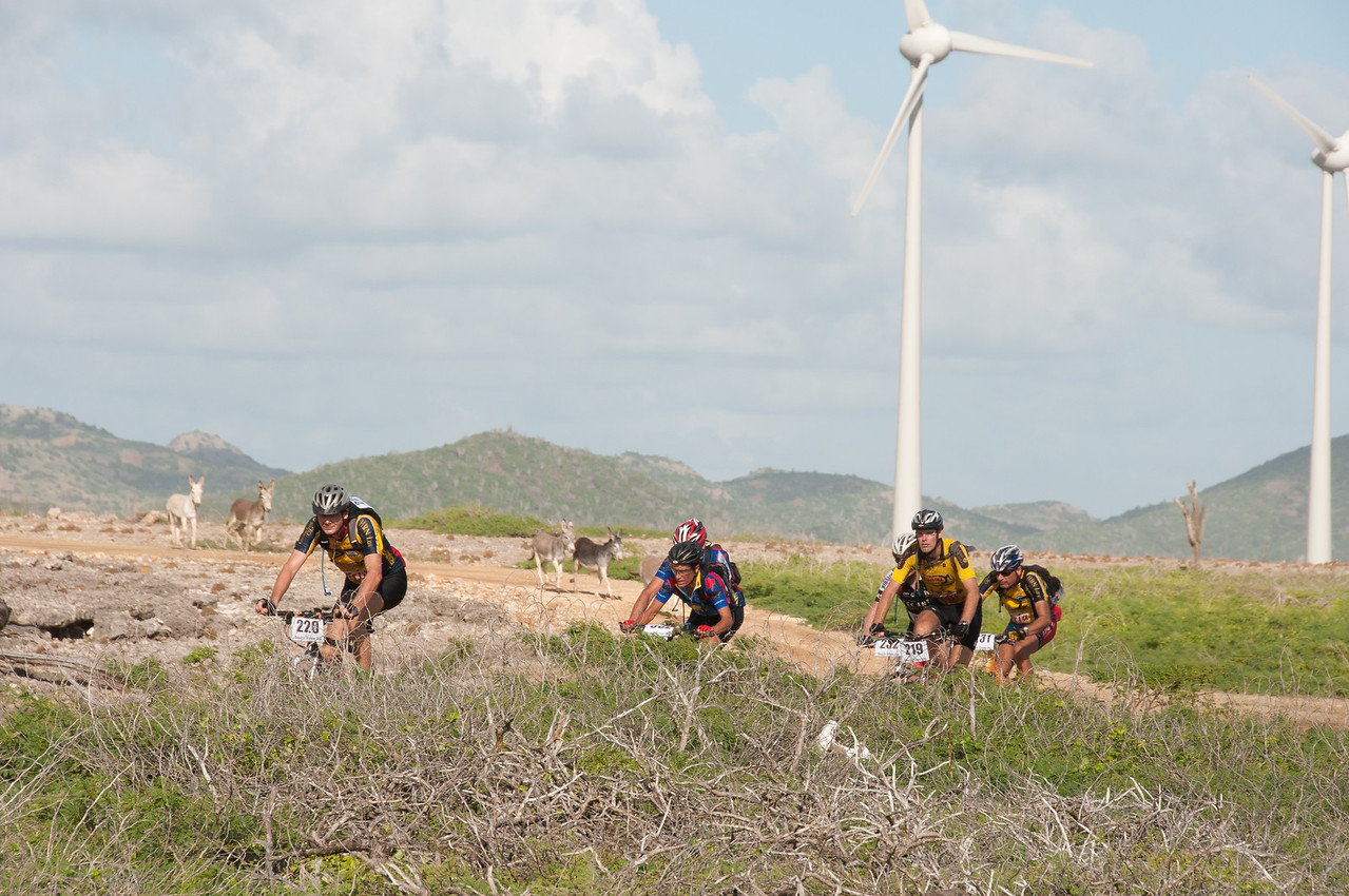 Windmills and bikers in Bonaire