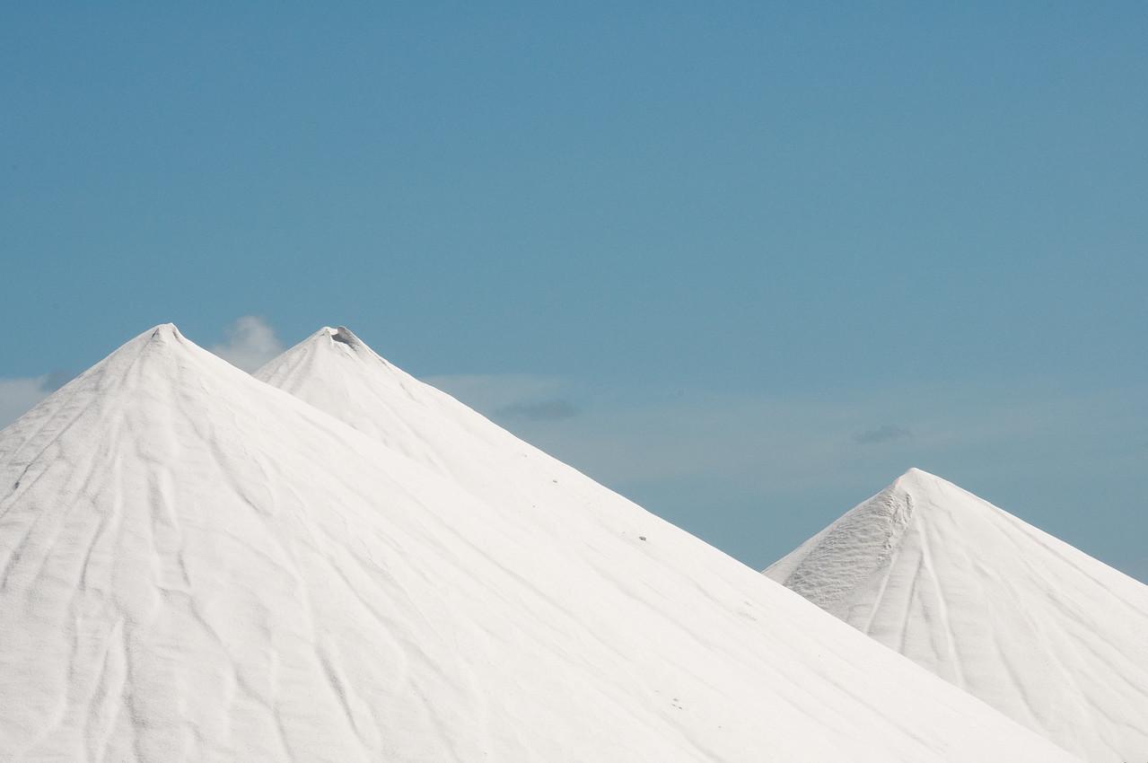 Salt piles on the island of Bonaire