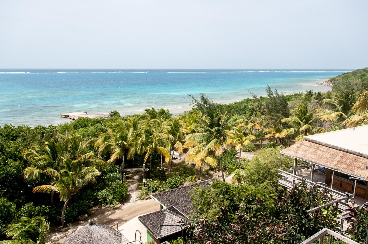 Overlooking view of beach at British Virgin Islands