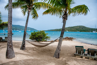 Hammock on the beach - British Virgin Islands