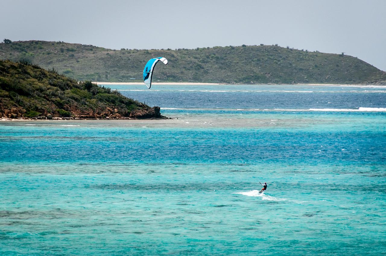 Kite surfer at the British Virgin Islands