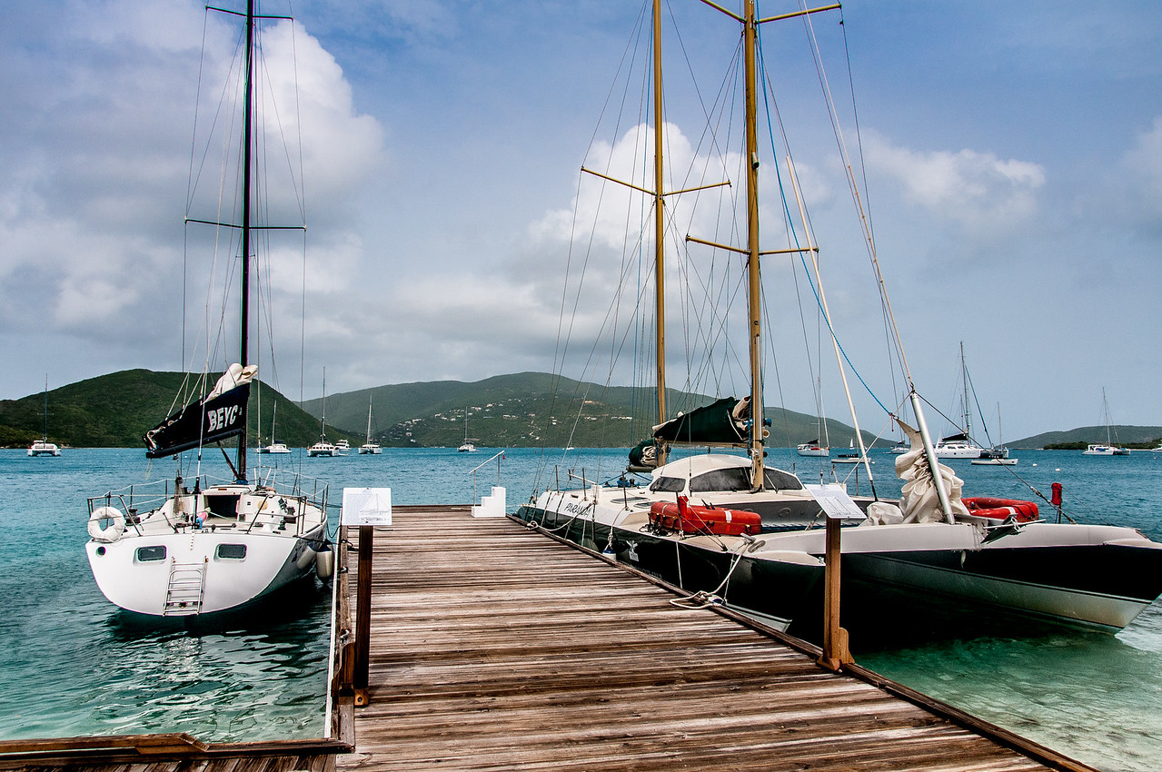 Yachts on the British Virgin Islands