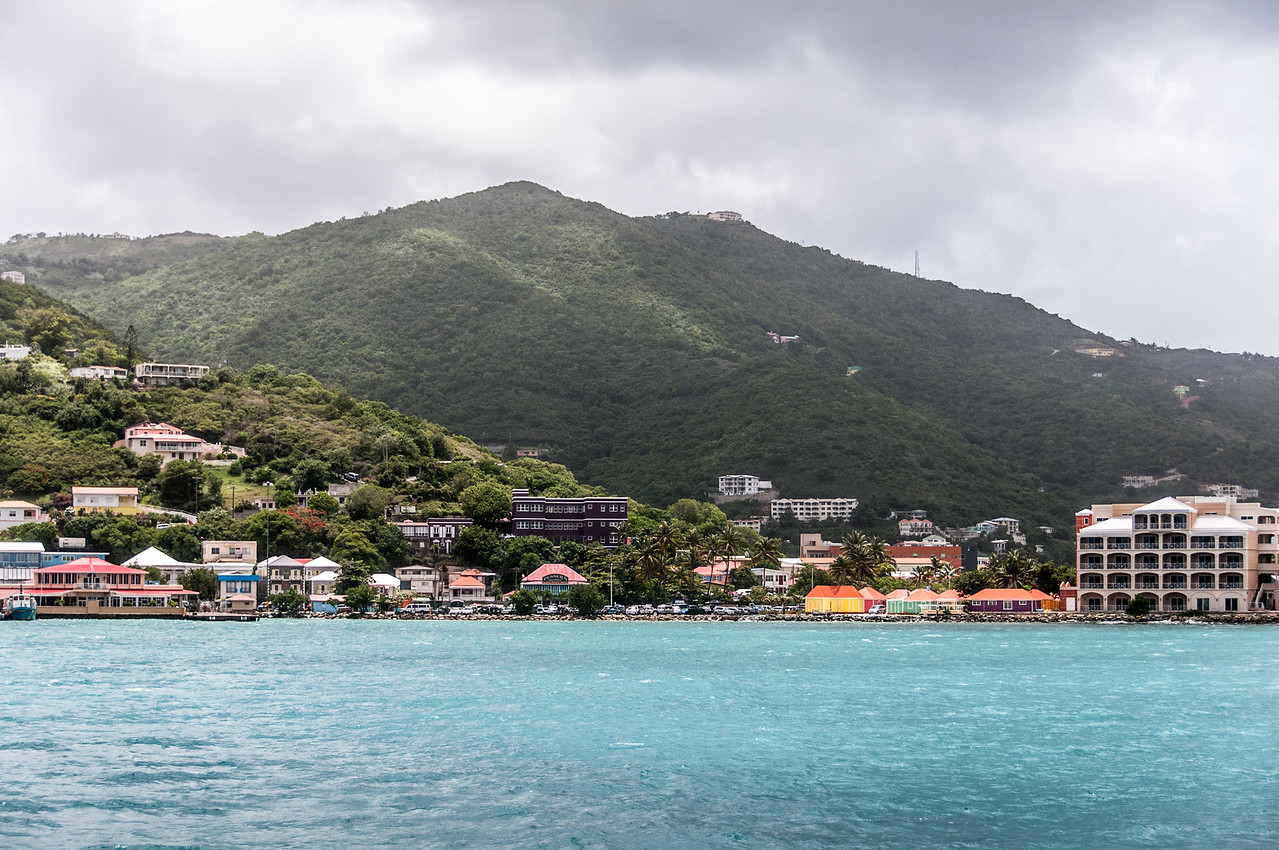 View of the skyline at British Virgin Islands