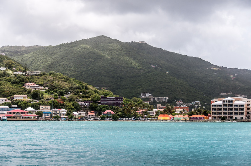 The BVI capital of Road Town as see from the sea