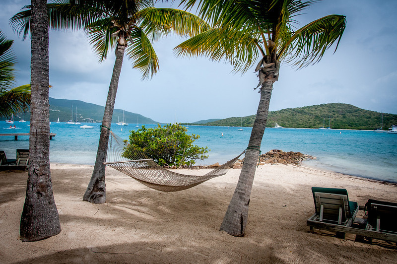 Hammock on the beach - British Virgin Islands