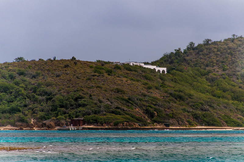 View of the mountain in the British Virgin Islands