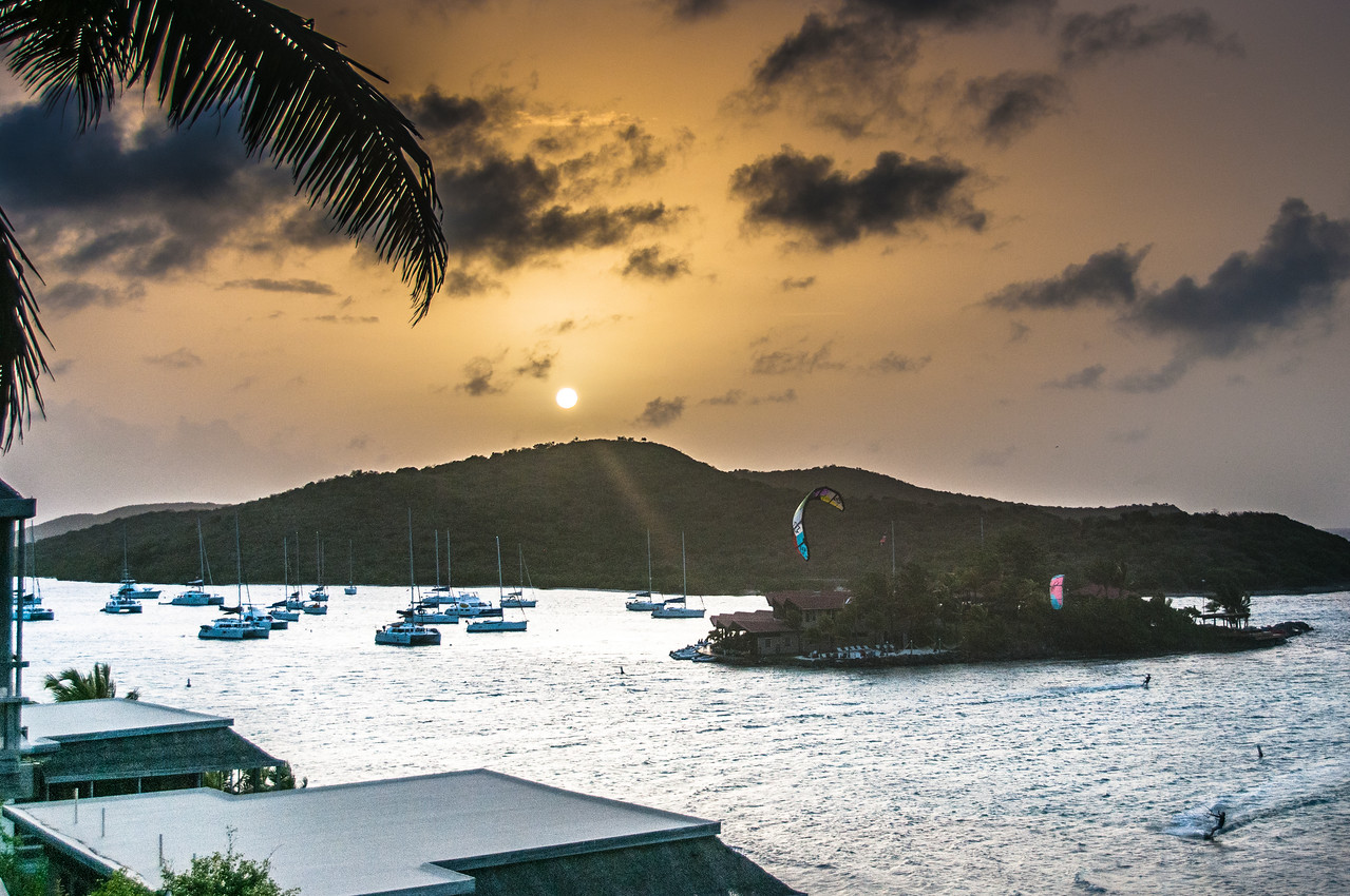 View of the sunset at British Virgin Islands