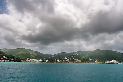 Heavy clouds over the British Virgin Islands