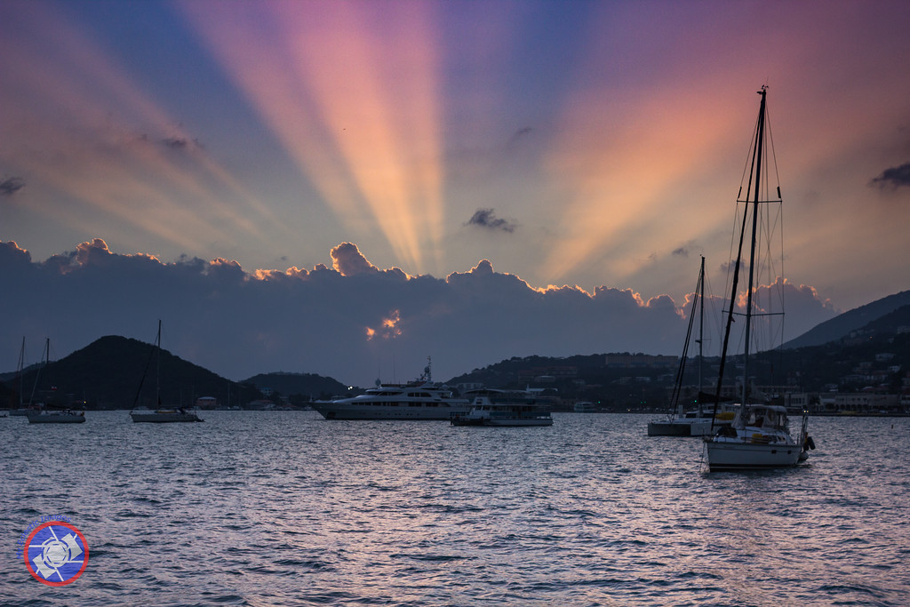 A Sunset in Charlotte Amalie, St Thomas,  (©simon@myeclecticimages.com)