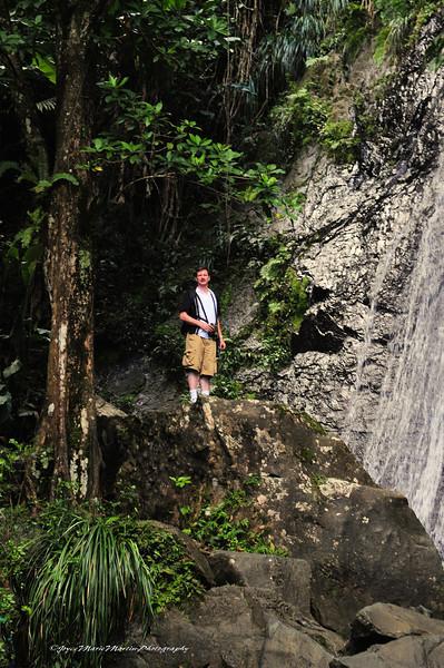 El Yunque rainforest waterfall