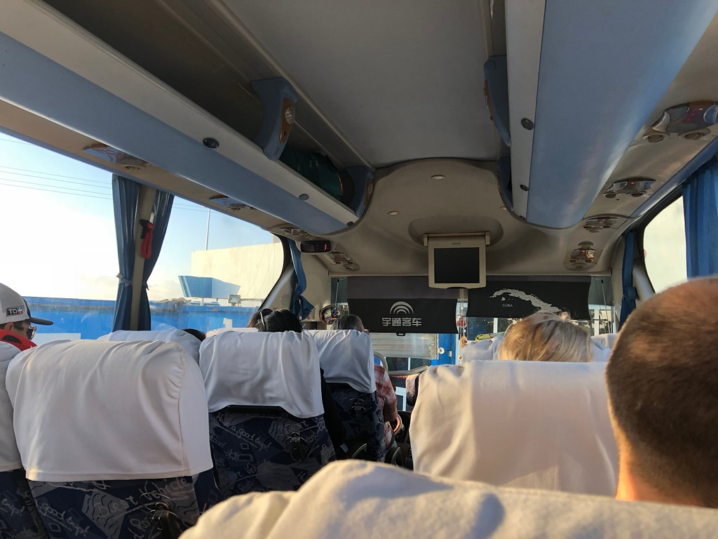 Inside the Viazul Bus in Cuba