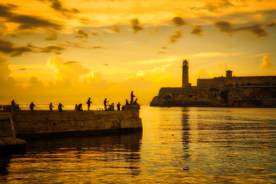 The Yellow Sunset in Havana