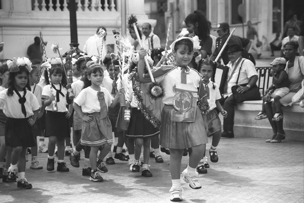 Little Girls on a Parade - Santiago, Cuba