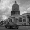 Classic Car in front of Capital in Havana