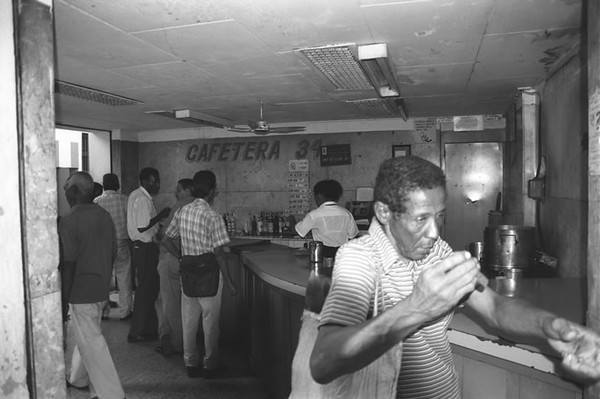 Men at a Cafeteria - Havana, Cuba