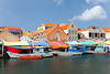 Boats at the floating market in Punda, Willemstad, Curacao, Netherland Antilles.