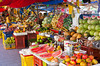 A fruit market on the Punda side in Willemstad, Curacao, Caribbean.
